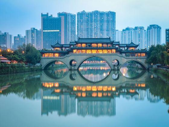 Anshun bridge at Chengdu