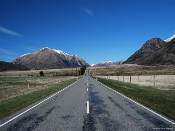 Driving along Arthur's Pass