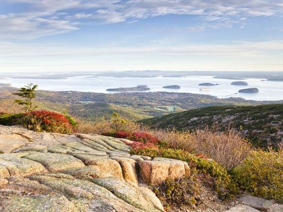 Bar Harbor view from Acadia National Park