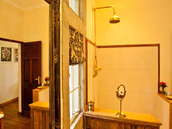 Bathroom at Giraffe Manor