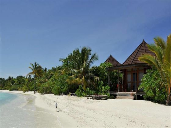 Beach access from the Beach Villas at Komandoo Island Resort