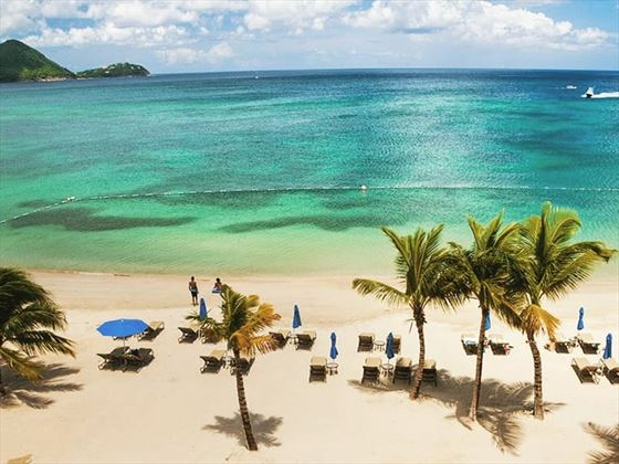 Beach at The Landings, St Lucia