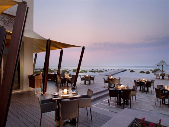 Beach House terrace at Park Hyatt Abu Dhabi Hotel & Villas