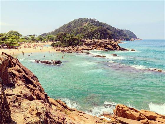 Beach near Paraty on Brazil's Costa Verde