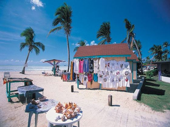 Beach shop at Jolly Beach Resort