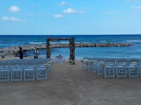 Beach wedding at the Hyatt Ziva