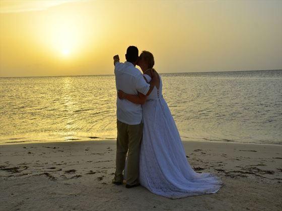 Sunset wedding in Jamaica