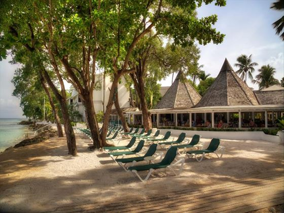 Beachfront seating area at The Club Barbados Resort and Spa
