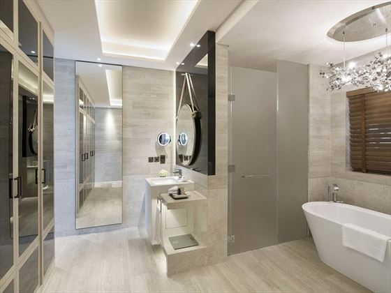 Beachfront Villa Bathroom, Sadiyat Rotana