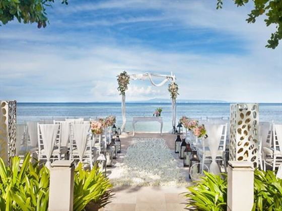 Beach romance setting when choosing the Premier Wedding
