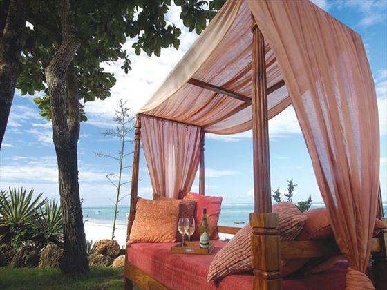 Beachside cabana at Baobab Beach Resort