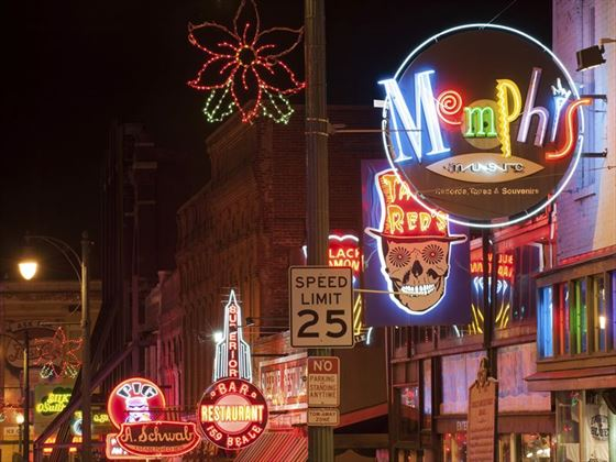 Beale Street, Memphis at night
