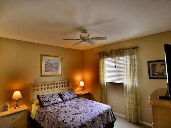 Bedroom at Fort Myers Area Pool Homes