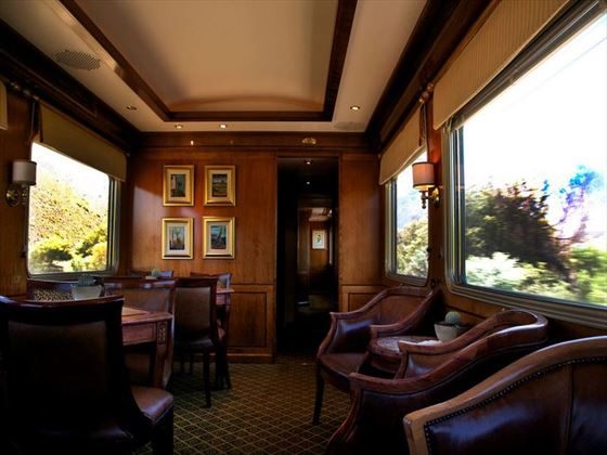 Interior view of the Blue Train