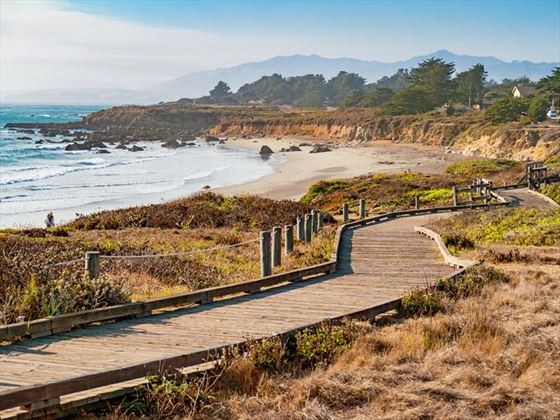 Moonstone Beach boardwalk, Cambria, California