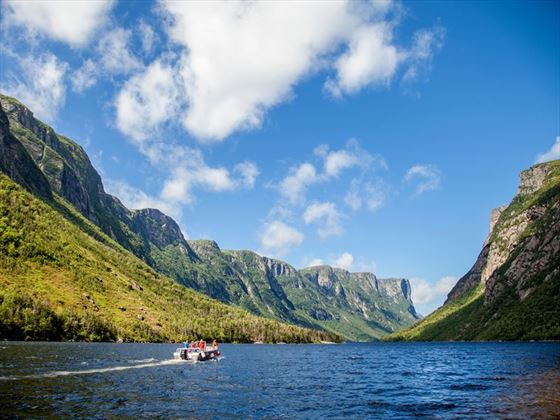 Boat tour on Western Brook Pont, Gros Morne National Park