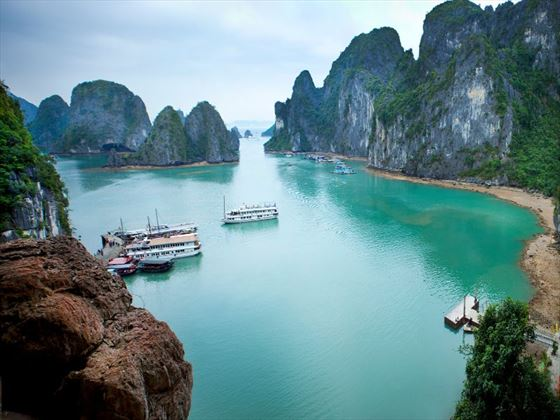 Boats on Ha Long Bay