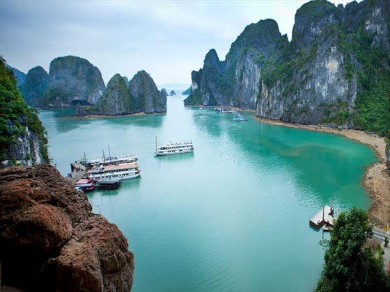 Boats on Ha Long Bay