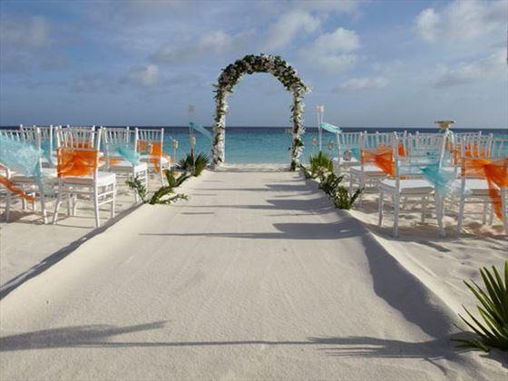 Bridal walkway on the beach