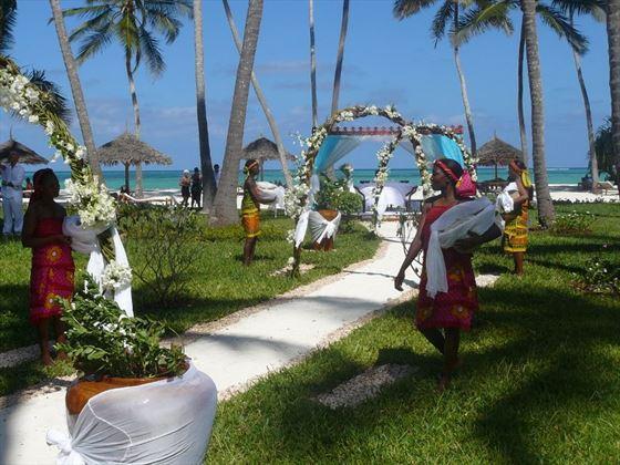 Bridal walkway to the beach