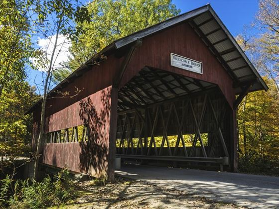 Brookdale covered bridge in Stowe