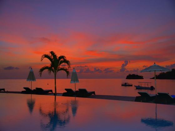 Buccament Bay Resort infinity pool