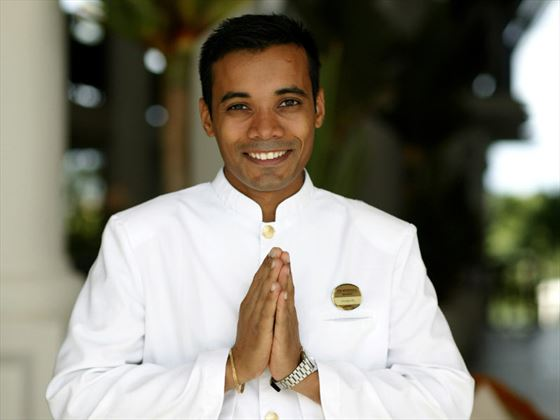 Butler service at The Residence Mauritius