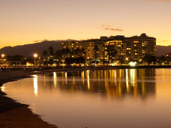 Cairns waterfront at night