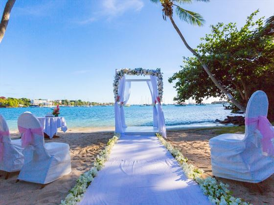 Glorious beach venue for your wedding at Calabash Luxury Boutique Hotel & Spa