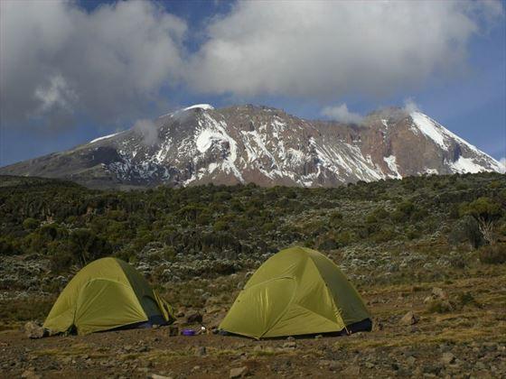 Camping at Mt Kilimanjaro