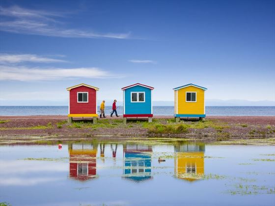 Coastal huts in Cavendish, Prince Edward Island