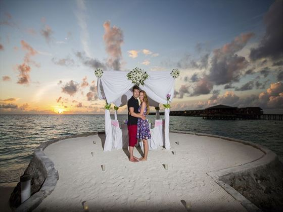 Choose a romantic dinner for 2 at Centara Ras Fushi Resort & Spa