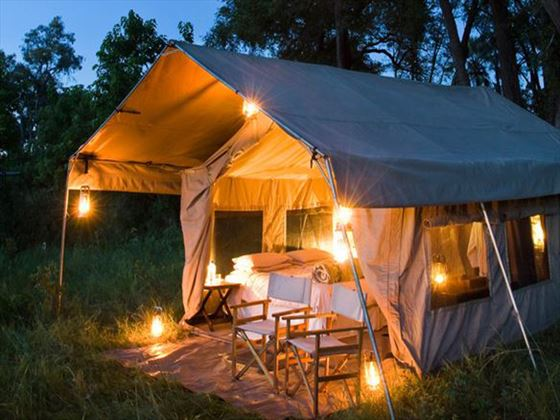Chobe Under Canvas private seating area
