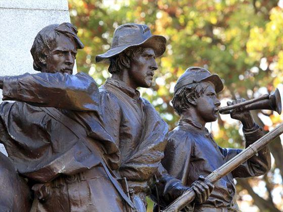 Civil war soldiers statue, Gettysburg