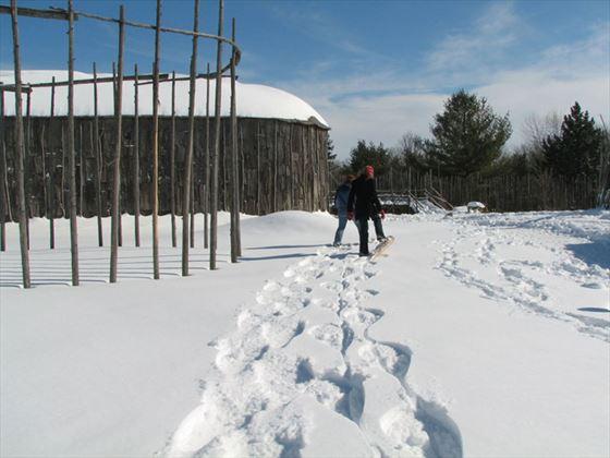 Snow times at Crawford Lake