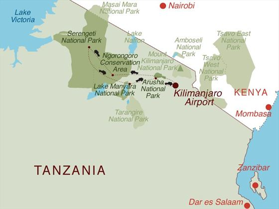 Classic Tanzania Map