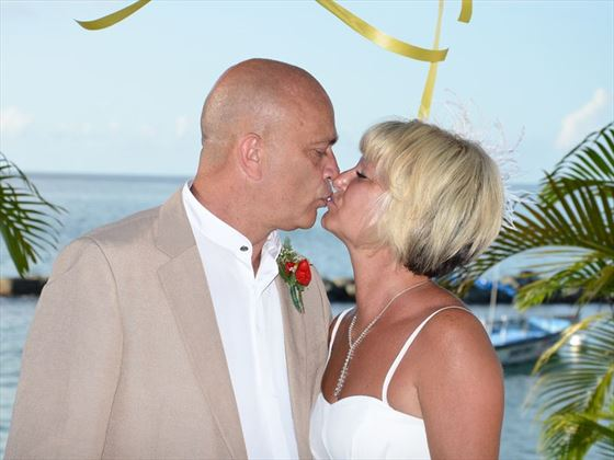 Wedding ceremony at the Coco Reef