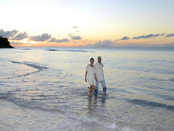 A lovers stroll, Cocobay Resort