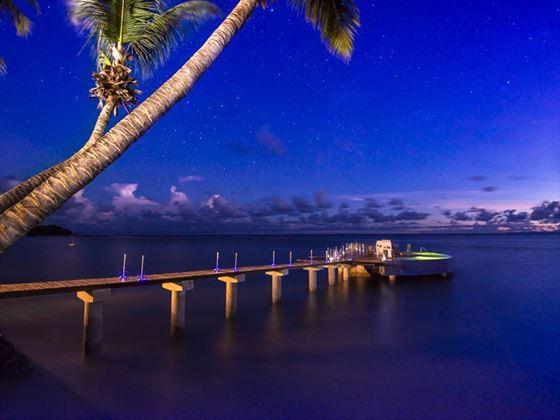 The jetty at night, Coco de Mer