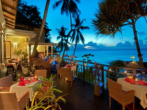 Cocotier restaurant at Hilton Seychelles Northolme Resort & Spa