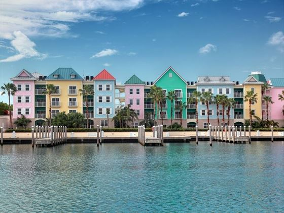 Colourful houses in Nassau, Bahamas