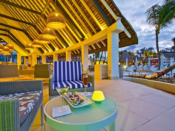 Coral bar terrace at Ambre Resort & Spa