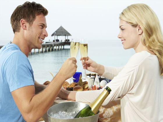 Dine by the ocean in Maldives