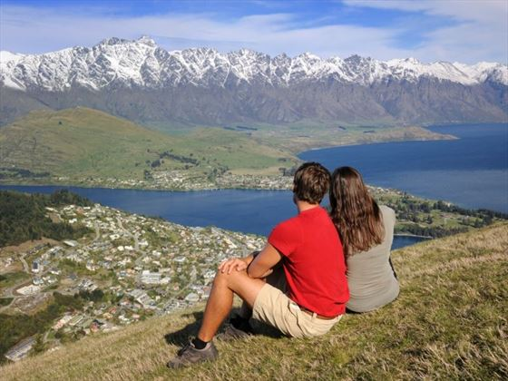 Couple enjoying the view in Queenstown