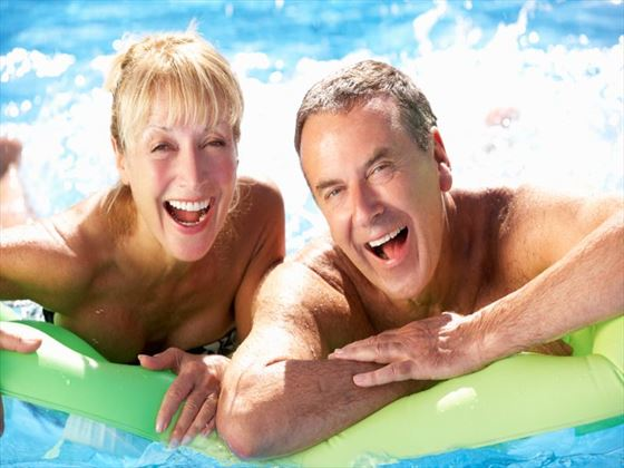 Spend some time enjoying some of the great pools and watersports available