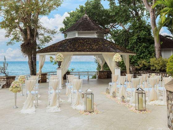 Ocean view wedding gazebo at Couples Sans Souci, Jamaica