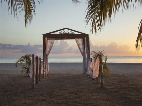 Stunning sunset wedding at Couples Swept Away