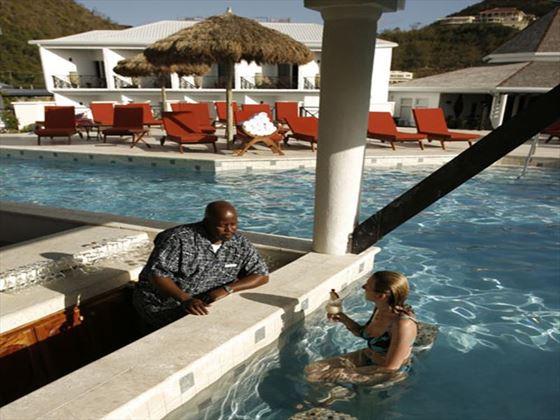 Coyaba Beach Resort swim-up bar