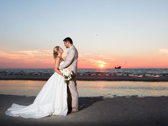 Stunning Clearwater sunset wedding