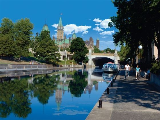 Cycling along the Rideau Canal